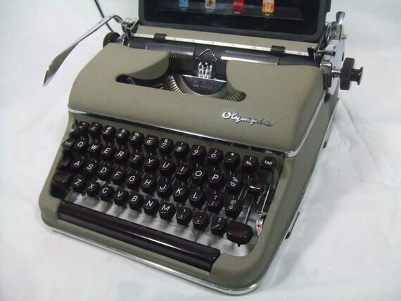 USB Typewriter for PC, Mac, iPad -- Cream Olympia Deluxe