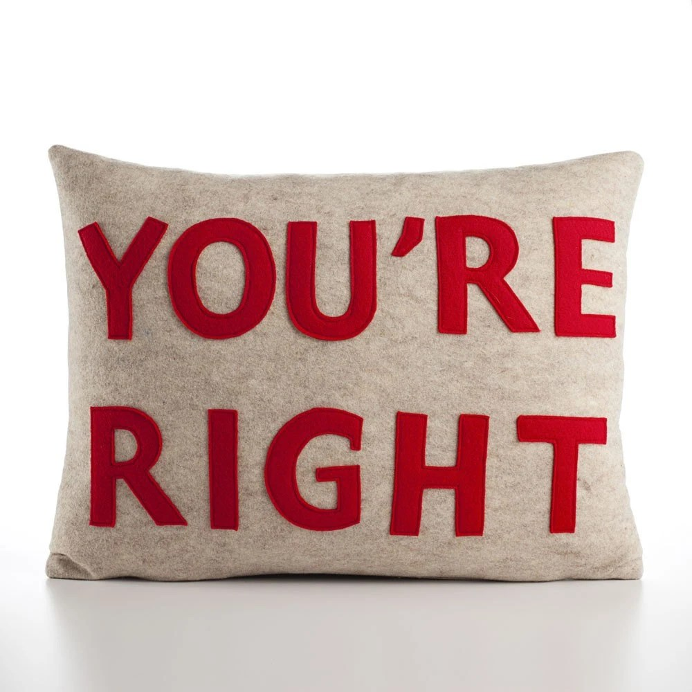 Recycled felt applique pillow - $75.00 US