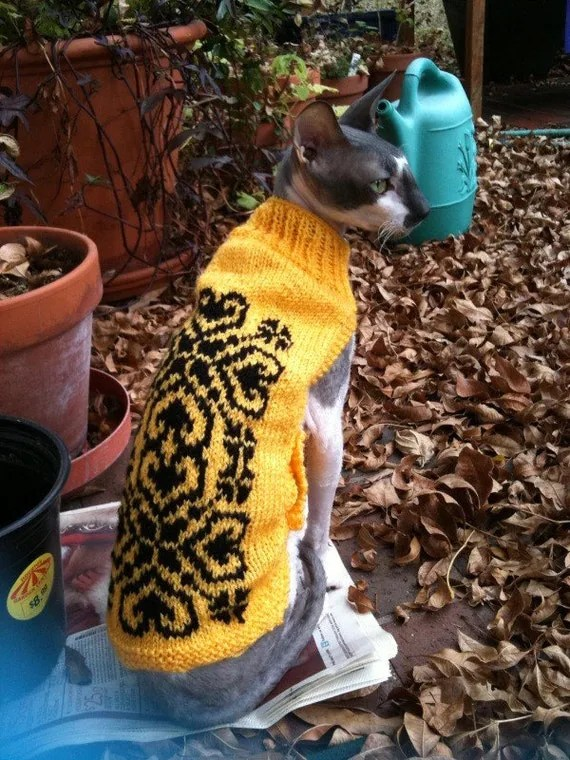 CAT JUMPER SWEATER Peterbald, Cornish Rex, Sphinx. Your pet, your way