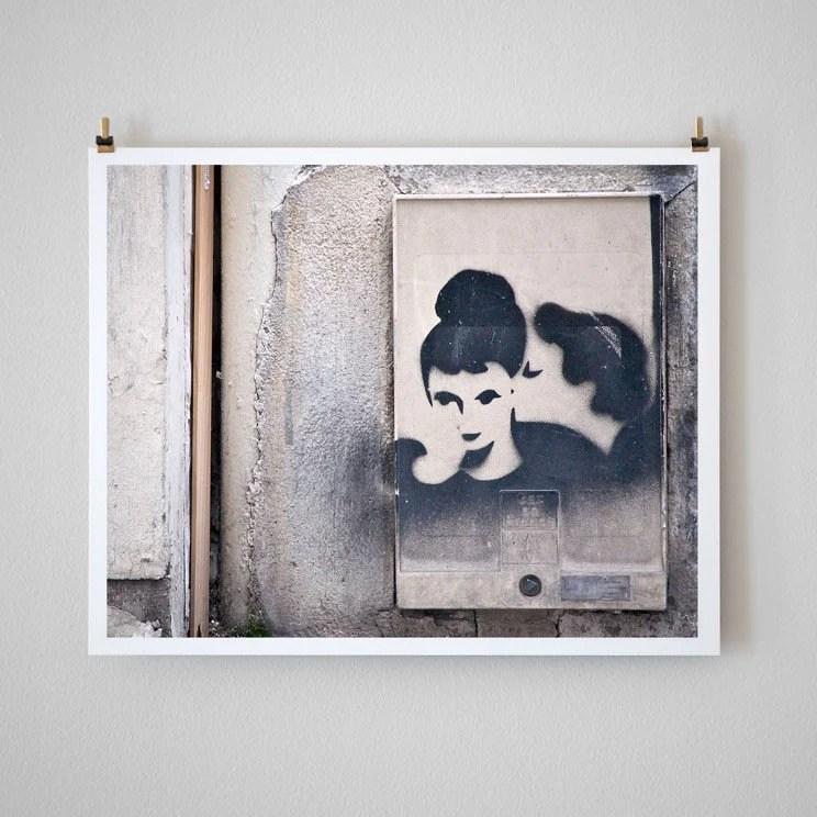 Paris Graffiti, Kiss- 8x10 Fine Art Photo