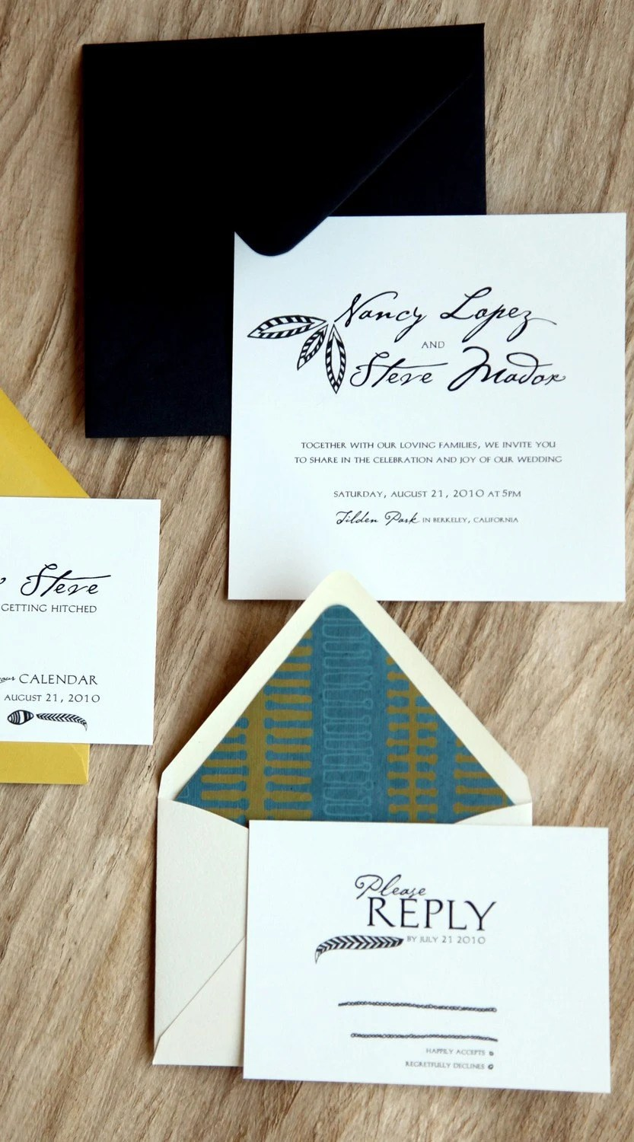 PDF/feather wedding invitation suite