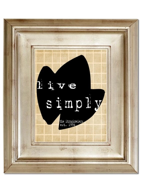Live Simply 8x10 Personalized Print
