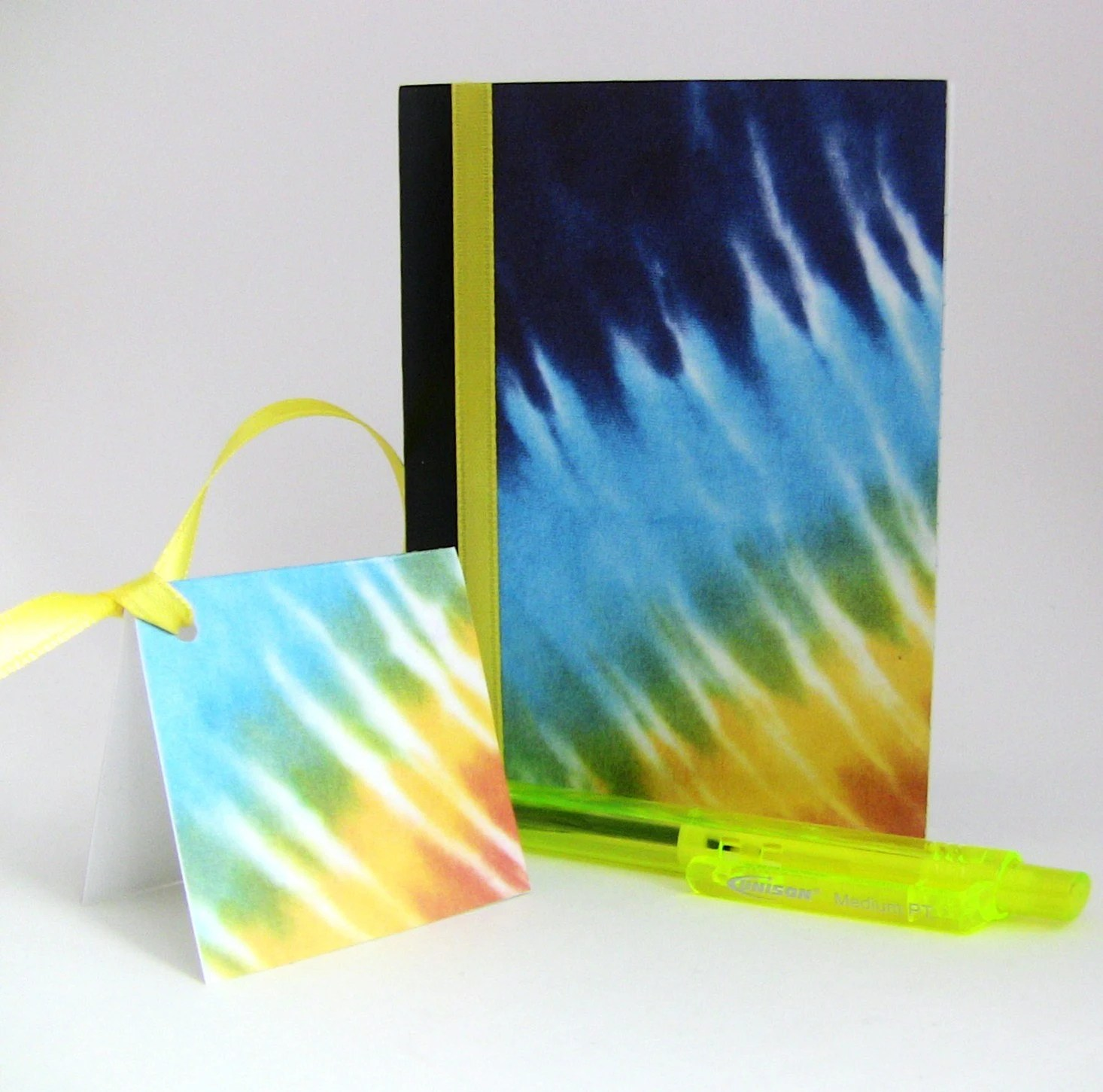 Tie-Dye - Yellow Ribbon - Small Altered Composition Notebook