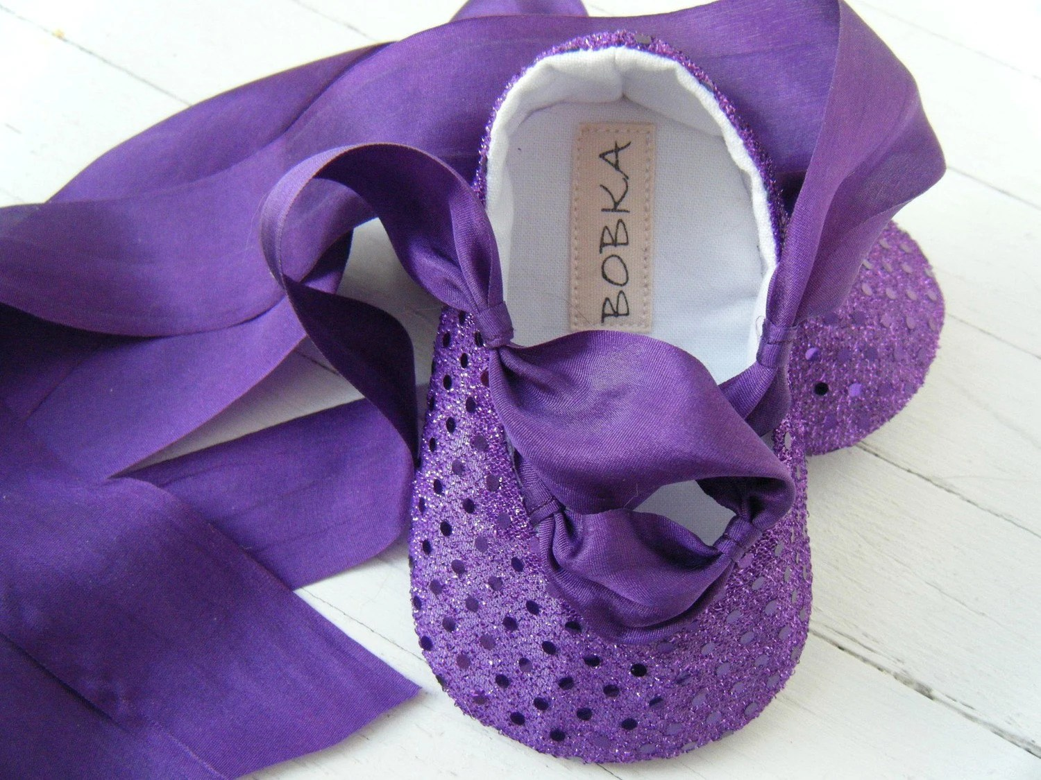 Royal Purple Sequin Ballet Shoe For Your Baby Girl