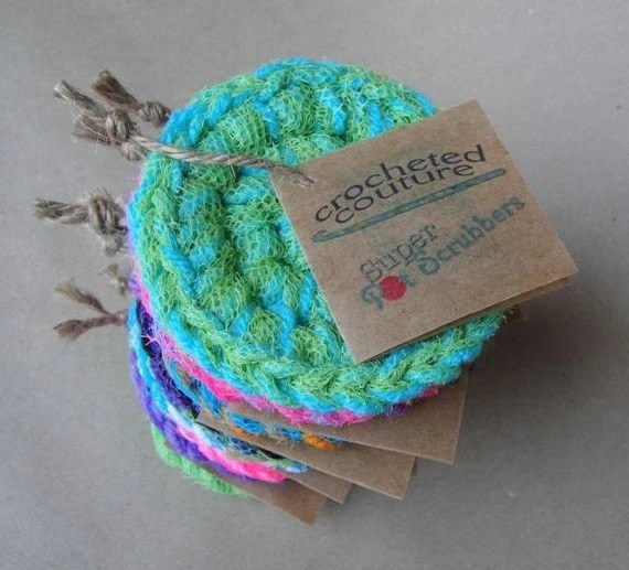 Free Pattern Crochet Nylon Pot Scrubbers : crocheted pot scrubbers crochetedcouture.com ...