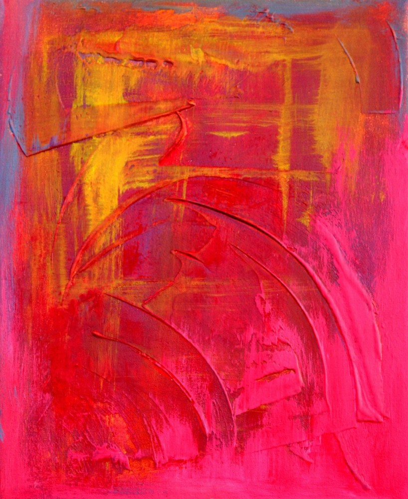 New Red Painting Spring Art Sale - Japanese Sunset (2/4)