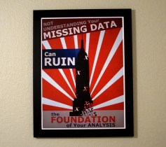 Statistics Propaganda Poster - Missing Data