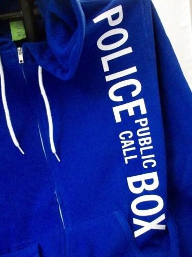 Police Box Hoodie Cobalt Blue