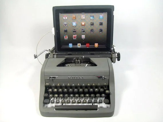 USB Typewriter -- For PC, Mac, or iPad -- WWII Royal Deluxe
