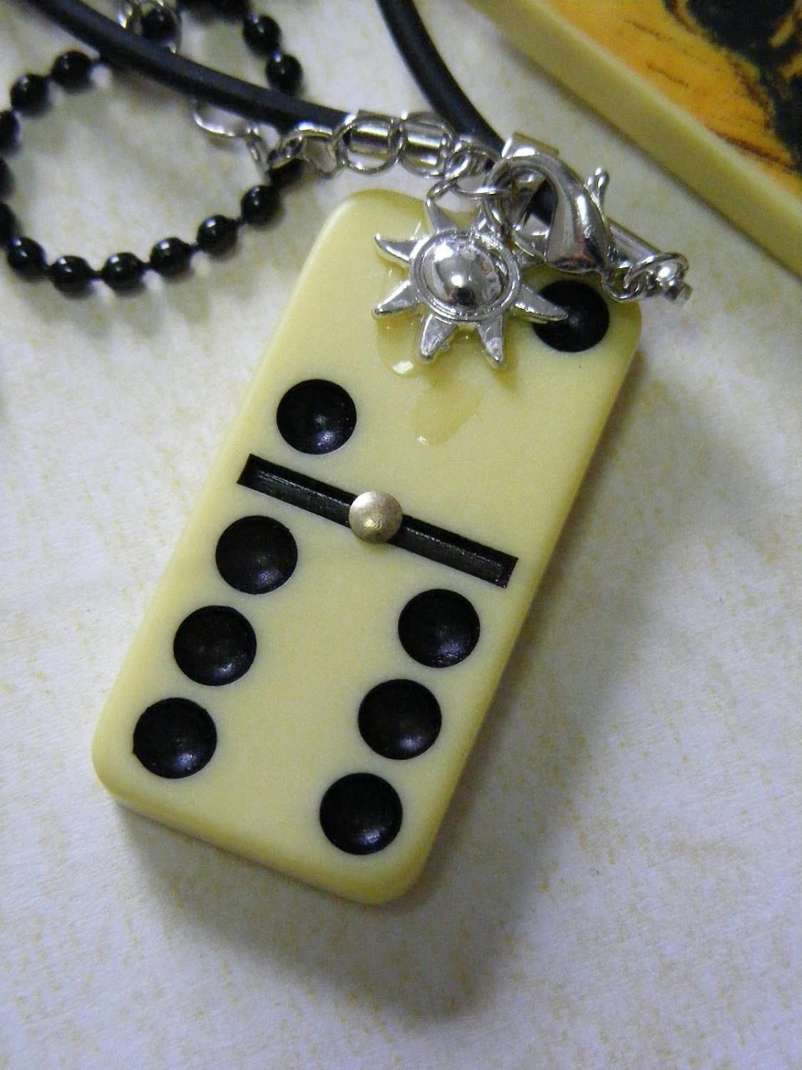 The Laughing Christ - Domino Pendant with Chain