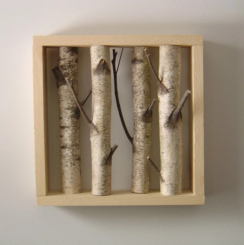 white birch forest - organic wall art -made to order