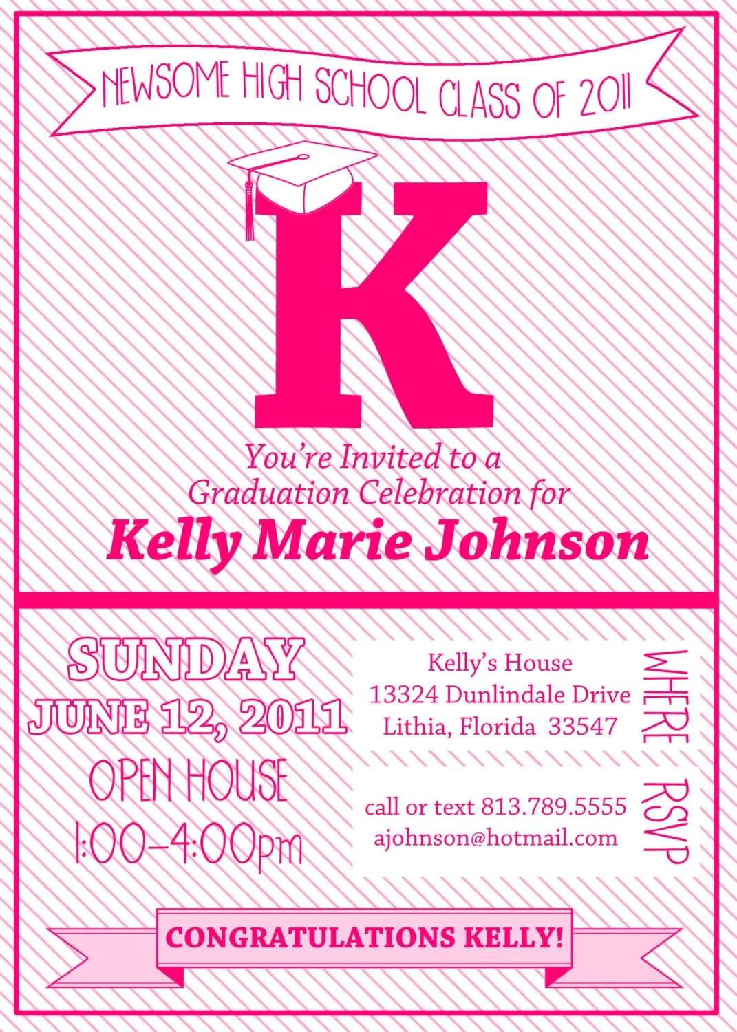 Graduation Party Invitation - Printable
