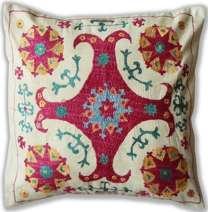 Old-school suzani cushion cover