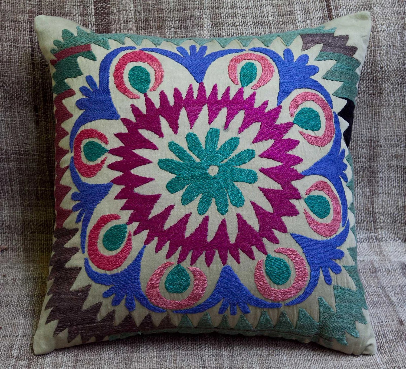 vintage suzani pillowcase in pairs ( 2 pcs ) - FREE SHIPMENT - 144