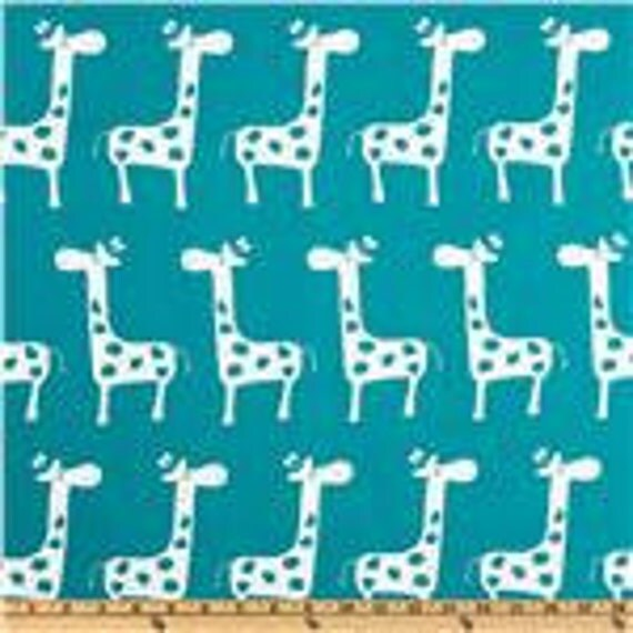Baby/ Toddler Nursing Pillow Cover Dark Blue Aqua/Turquoise with White Giraffes Fits Boppy