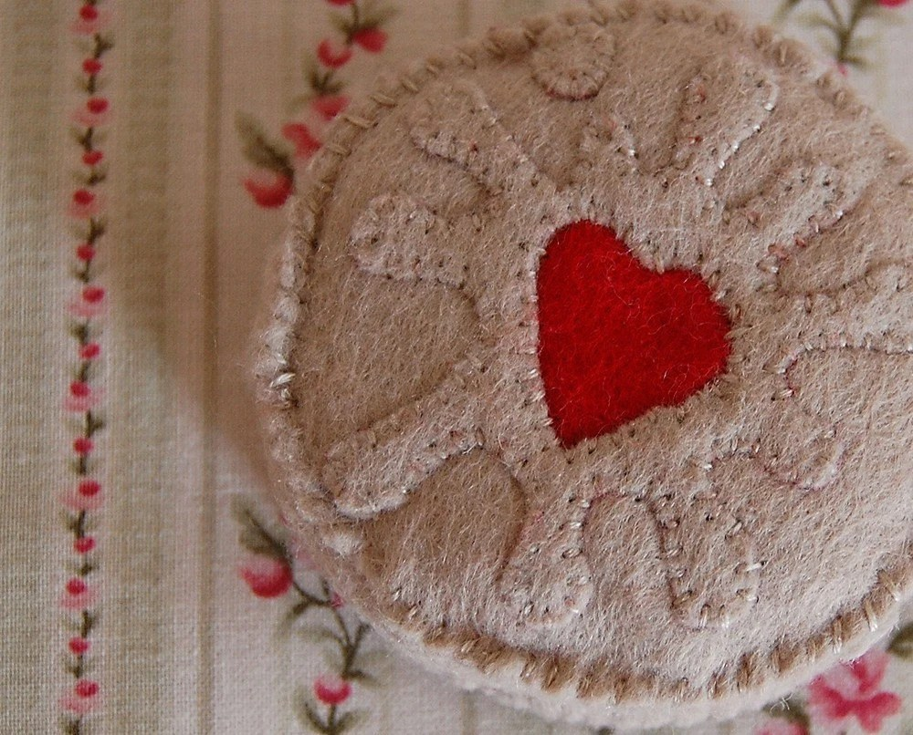 Jammie Dodger Recycled Felt Food Sculpture