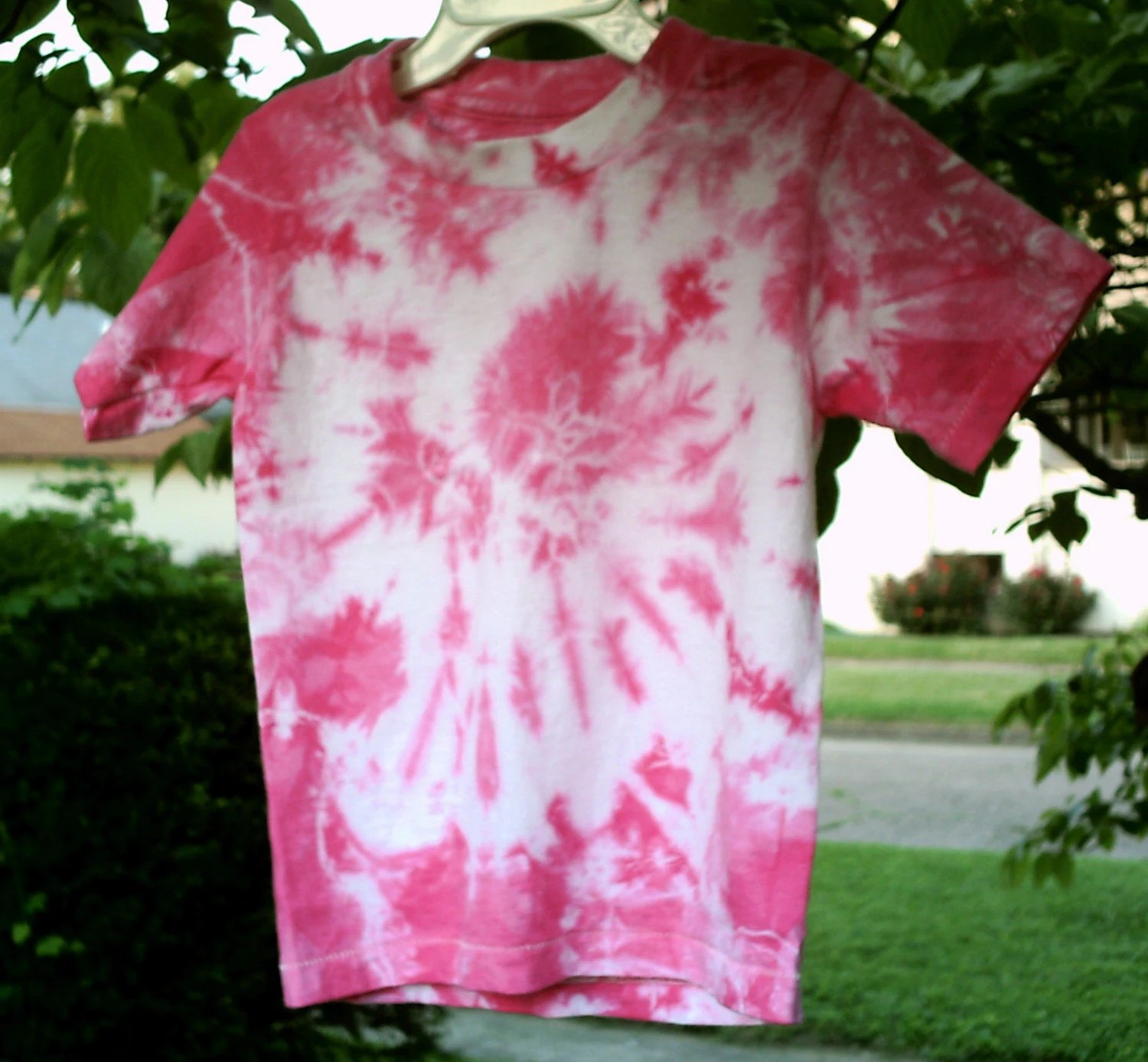 Goodness Gracious pink 2T tie-dye tshirt