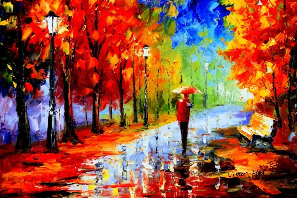 Flower - Modern Art Vibrant Rich Texture Palette Knife Oil Painting Canvas
