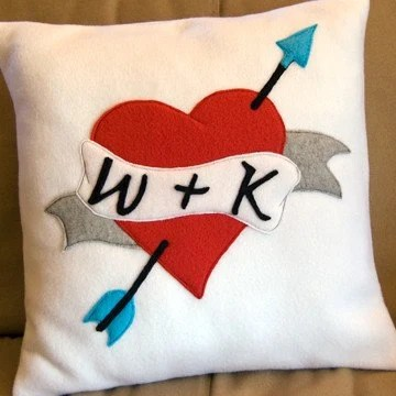 wedding heart pillow