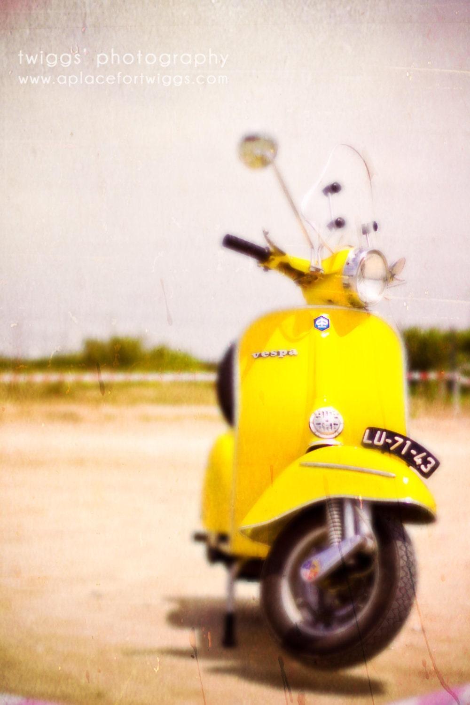 lovely yellow bike