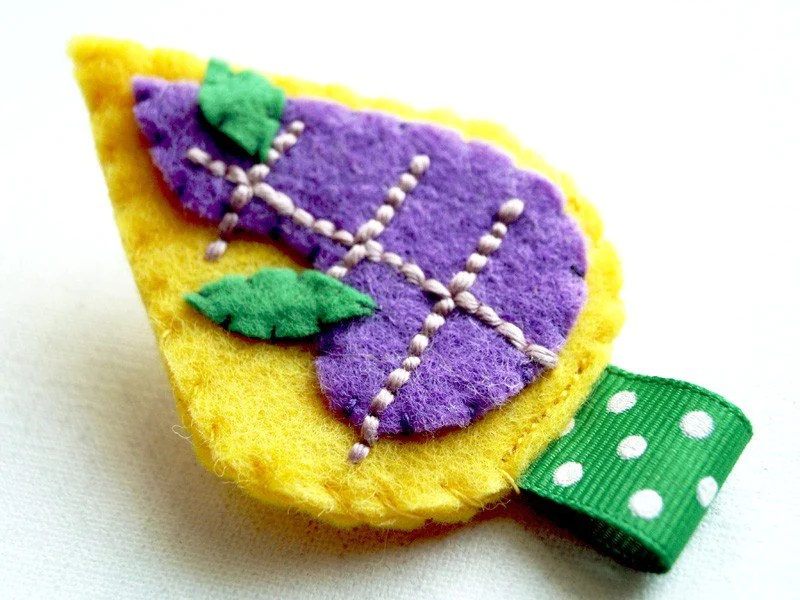 Dreaming About Trees Brooch in Yellow