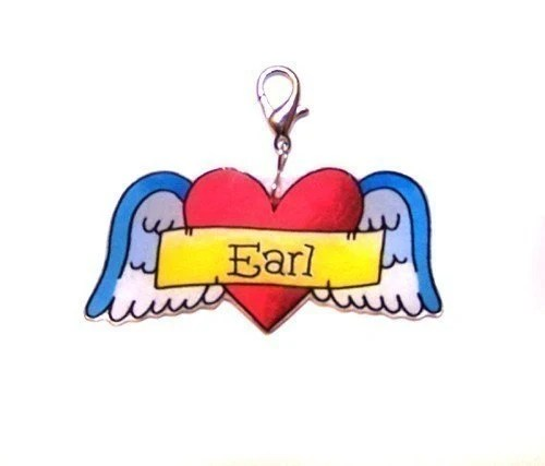 Heart and Wings Tattoo Pet Tag Pet