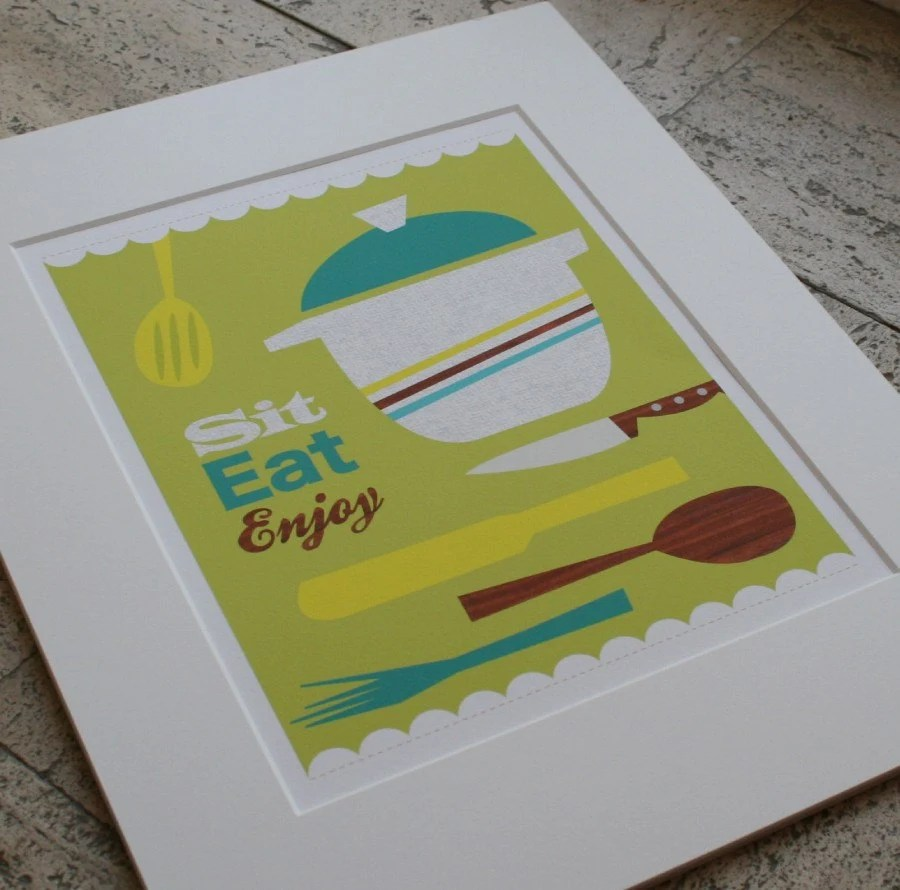 Sit, Eat, Enjoy print from Jen Ski on Etsy