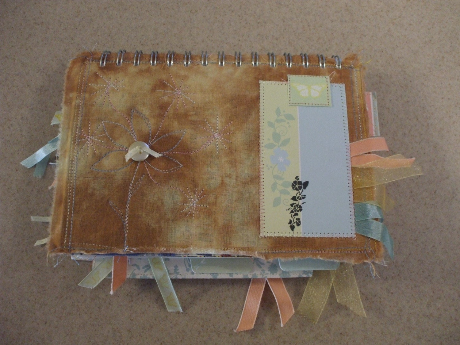 Memory-Journal Book Unique Hand-Crafted 6in by 8in Wire-Bound Book from Faerie Acres