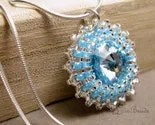 Pool - beadwoven swarovski and sterling chain