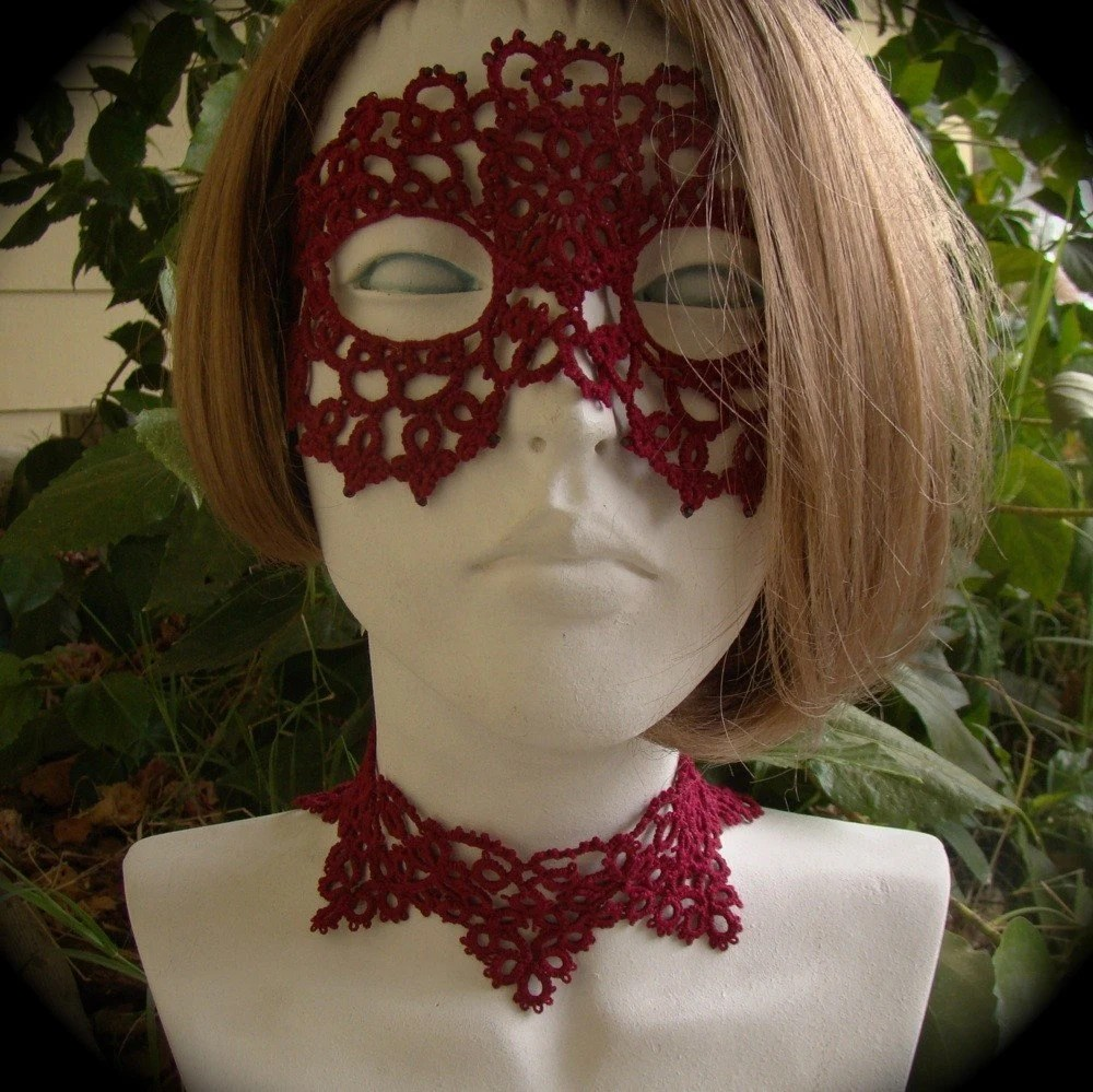 Valentine Evenings Tatted Mask by TotusMel