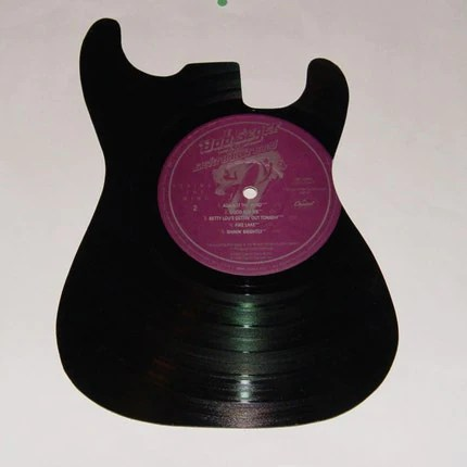 Vinyl Record Silhouette Guitar Bob Seger and the Silver Bullet Band