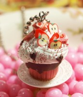 sweetest charm collection cupcake with apple slices