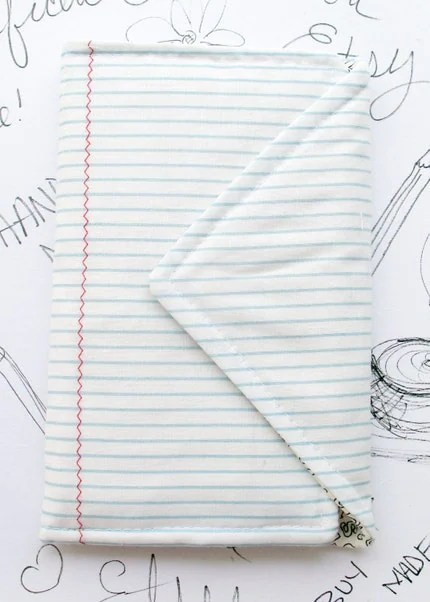 Notebook Style Fabric Book by Megnificent Made