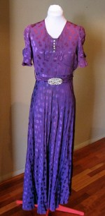 Vintage 1930s Stunning Bias Cut Evening Gown - AS IS