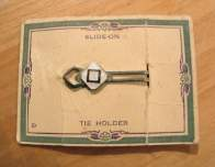 Vintage 1930s Art Deco Tie Clip on Original Display Card - RARE