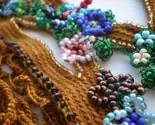 Elysian Fields ... Freeform Beaded Crochet Necklace - Flowers