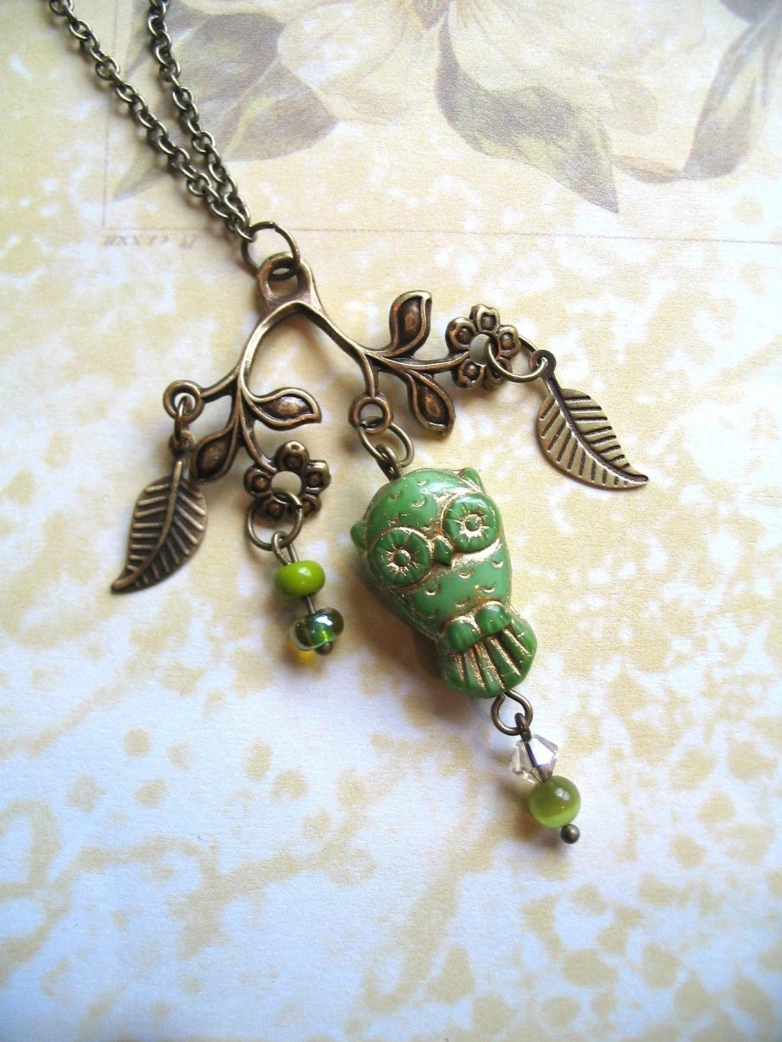 Little Green Owl Necklace