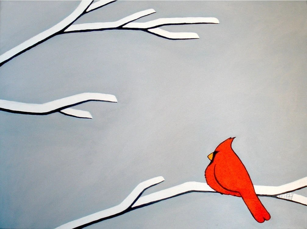 First Snow, signed print by artist John Tebeau (free shipping in USA)