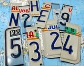 License Plate Letter Number U PICK Altered Art Scrapbooking   Collage