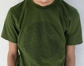 Animal Group Names Tee in Olive - Mens Small or X-Large