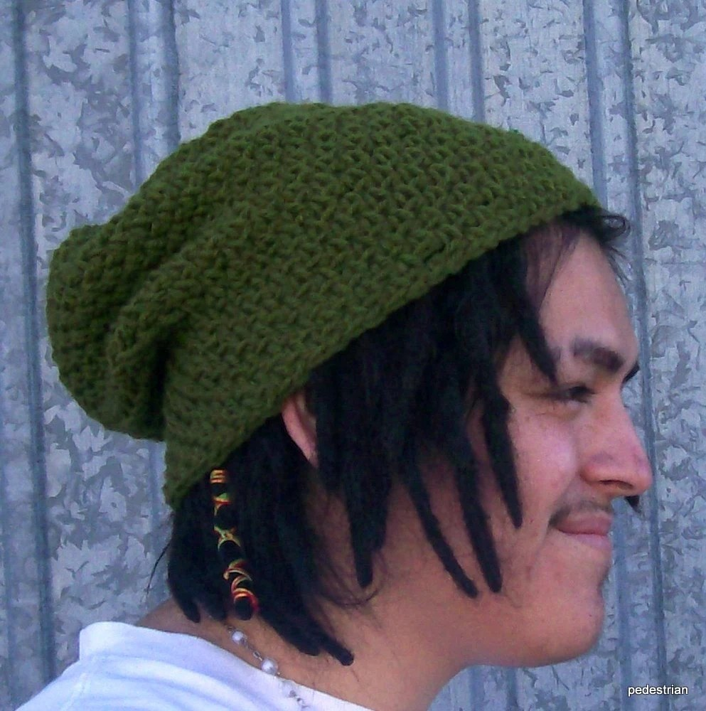 The Slouch Beanie in Olive