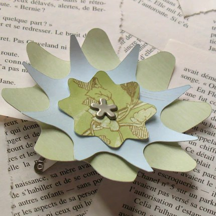 Paper Flower Hair Clip - Florence