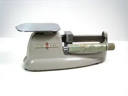 Vintage Industrial Pitney Bowes Postal Scale