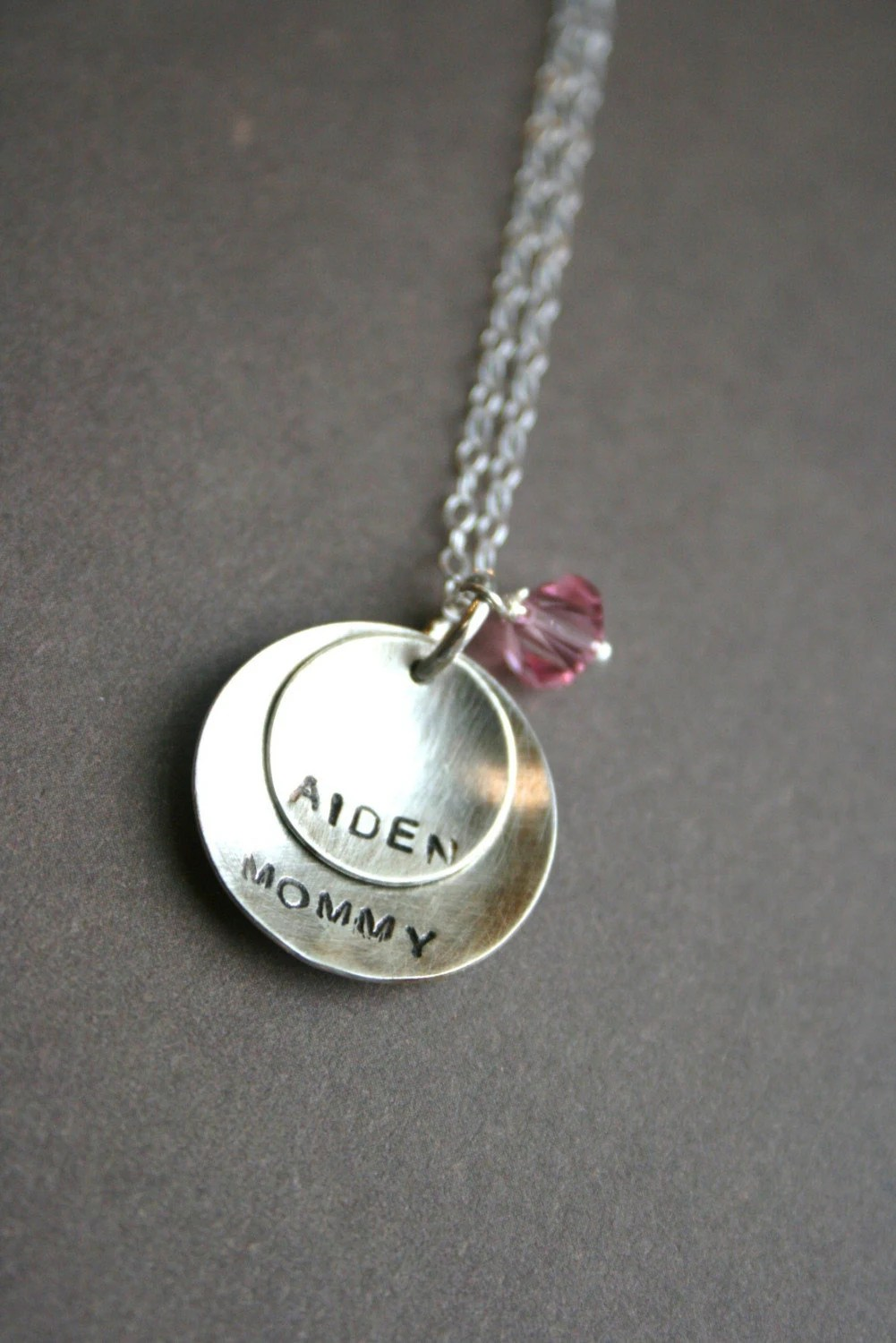 FREE SHIPPING - Mommy and Child Personalized Sterling Necklace