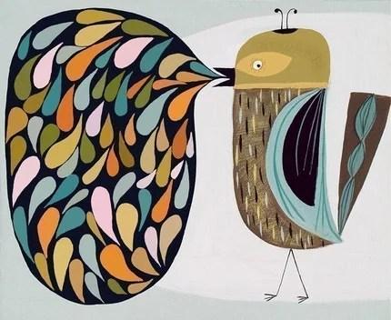 charlie bird print