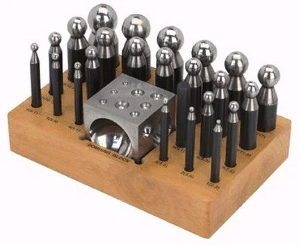 25 PIECE SET DAPPING BLOCK