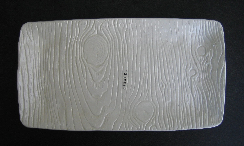 wood grain platter (create).