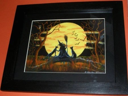 Halloween Framed Art Titled Patience Halloween Nears NEW FOR 2010