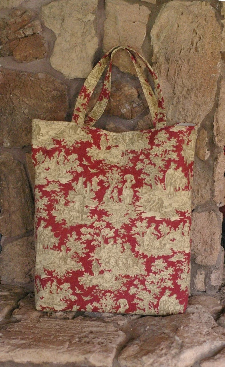 Country Toile Reusable Shopping Bag
