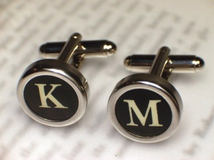 Typewriter Key Cufflinks by Haute Keys